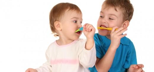 cuidado com os dentes das crianças